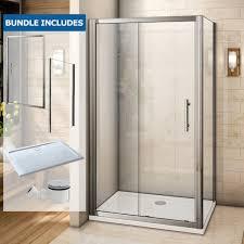 1000 Sliding Shower Door Aquaspa Deluxe 1000 X 800mm Sliding Shower Enclosure Bundle