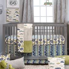 Gray And Yellow Crib Bedding Sweet Potato By Glenna Jean Uptown Traffic 3 Piece Crib Bedding
