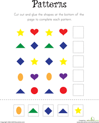 patterns in kindergarten pattern practice worksheets kindergarten and patterns