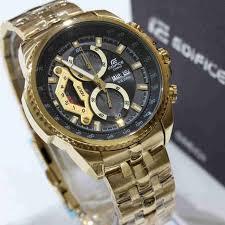 Jam Tangan Casio Gold jual jam tangan casio edifice original bm ef558gr rantai stainless