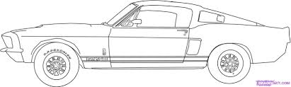 muscle car outline clipart collection