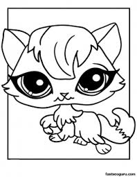 print littlest pet shop coloring kitten girls