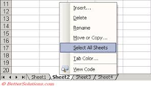excel worksheets grouping