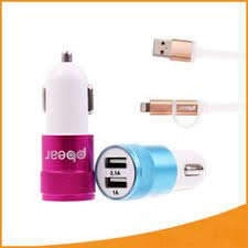 Car Phone Charger With Usb Port Rock Simpiz Series Motor Car Charger Adapter 3 Usb Port Led 2 1a