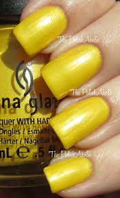 Yellow Swatches The Polishaholic China Glaze Spring 2012 Electropop Collection