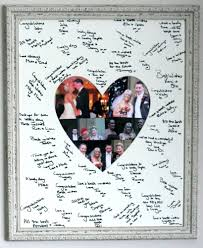 guest signing book framed signature signing heart shaped board wedding guest book