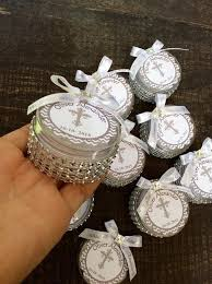 baptism favor ideas 12 baptism favors boxes with mini rosaries girl baptism favors
