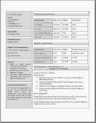 chartered accountant resume beautiful resume format latest express news daily jobs