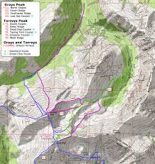 Bent Creek Trail Map 14ers Com U2022 Grays Peak And Torreys Peak Route Description