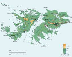 Topographical Map Of New Mexico by Topographic Map Of Falkland Islands