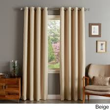 aurora home silver grommet top thermal insulated 96 inch blackout curtain panel beige