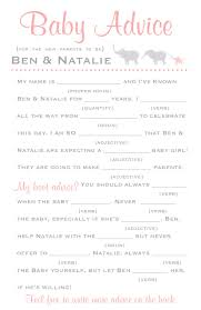 could be fun to do a mad libs version of this at the baby shower
