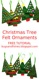 sew some colourful felt christmas tree ornaments with this