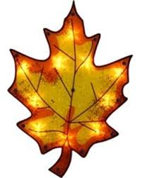 amazing deal on impact 16 lighted thanksgiving maple leaf window