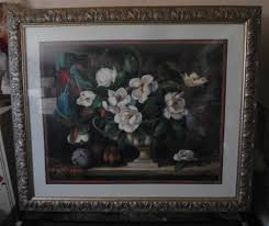 ebay home interior details about large home interiors silver framed floral magnolia