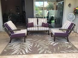 Purple Patio Cushions by Barcelona Premier Patio