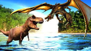 dragon cartoon video kids dinosaur king kong rex fight