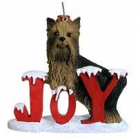 yorkie terrier cards ornaments
