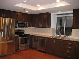 Dark Kitchen Cabinets With Backsplash Kitchen Cabinets Kitchen Counter Faux Granite Dark Cabinets Wall