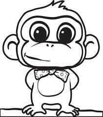 the amazing as well as attractive cute monkey coloring pages