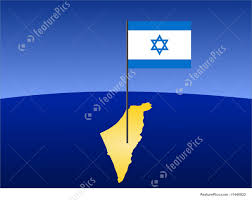 Flag Of Israel Map Of Israel With Flag Stock Illustration I1440822 At Featurepics