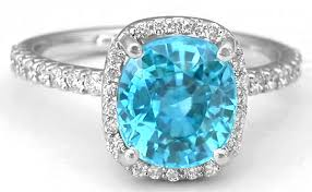 blue zircon rings images Cushion cut blue zircon ring in 14k white gold gr 1135 jpg