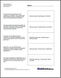 market math worksheets worksheets