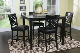 Black Counter Height Dining Room Sets  Pc Fair Countertop R With - Black dining room table