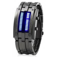 mens bracelet digital images Date binary digital led bracelet watch for men with two lines led jpg