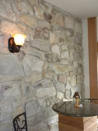 Stone Wall Sconce Residential Photo Gallery U2013 Indoor Installation Of Natural Thin Stone