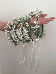 baby s breath flowers baby s breath crown baby s breath flower girl by rosyrosemelb