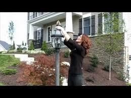 how to change a lamp post light bulb heartland homes youtube