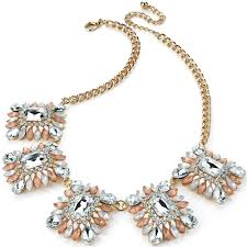 gold plated statement necklace images Classy ladies chunky unique fashion dress wear multi shape jpg