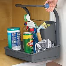 kitchen sink cabinet caddy polder the sink storage caddy