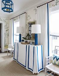 White Curtains With Blue Trim Decorating White Curtains With Green Trim 100 Images Green And Gray