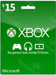 15 gift cards xbox live account credits