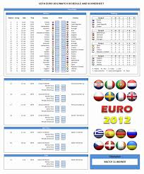 free euro 2012 schedule template