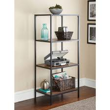 Metal Furniture Finishes Mainstays Metro Media Tower Multiple Finishes Walmart Com