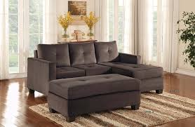 Reversible Sectional Sofas by Amazon Com Homelegance Phelps Contemporary Microfiber Ottoman
