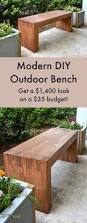 bench noticeable modern outdoor dining bench compelling