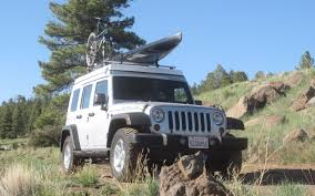 jeep kayak trailer ursa minor jeep wrangler first drive truck trend