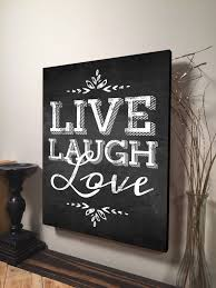 Home Decor Canvas Art Live Laugh Love Wall Art Inspirational Quote Home Decor Canvas Art