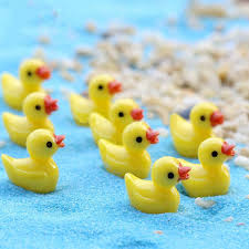 duck decorations wholesale 100pcs lot resin crafts decorations miniature duck