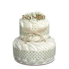 diper cake mini green 2 tier organic cake