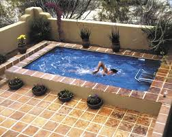 Small Garden Pool Ideas Swimming Pool Rectangle Small Backyard Pool Ideas With Brown