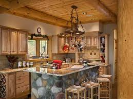 Cabin Kitchen Cabinets Contemporary Cabin Kitchen Design Home Designs With For Ideas