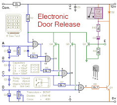 how to build a keypad operated door lock release