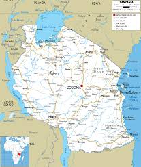 Burundi Africa Map by Large Detailed Road Map Of Tanzania With All Cities And Airports