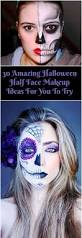 Skeleton Face Painting For Halloween by Best 20 Half Face Makeup Ideas On Pinterest Half Face Halloween