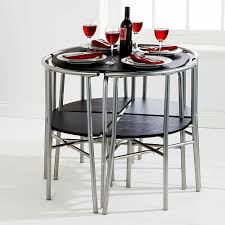 Rolling Dining Room Chairs by Space Saver Table And Chairs Set Folding Table Of Space Saver
